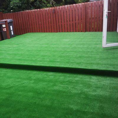 Fairway artificial grass installation
