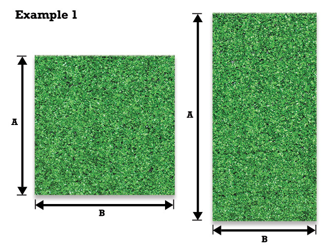 Measuring For Artificial Grass Example 1