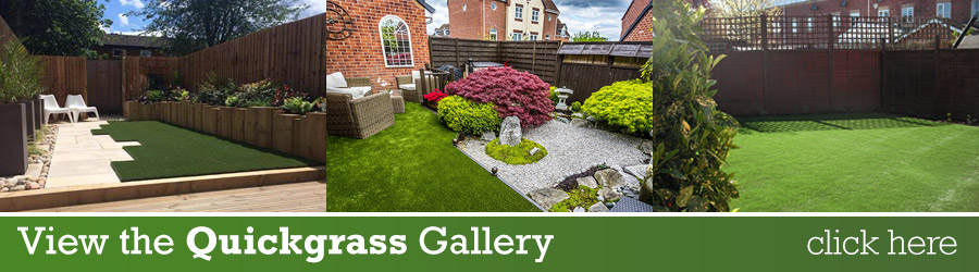View the QuickGrass artificial lawn Gallery