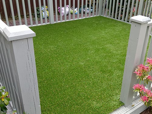 Artificial Grass over Decking