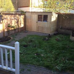 artificial grass lawn before photo