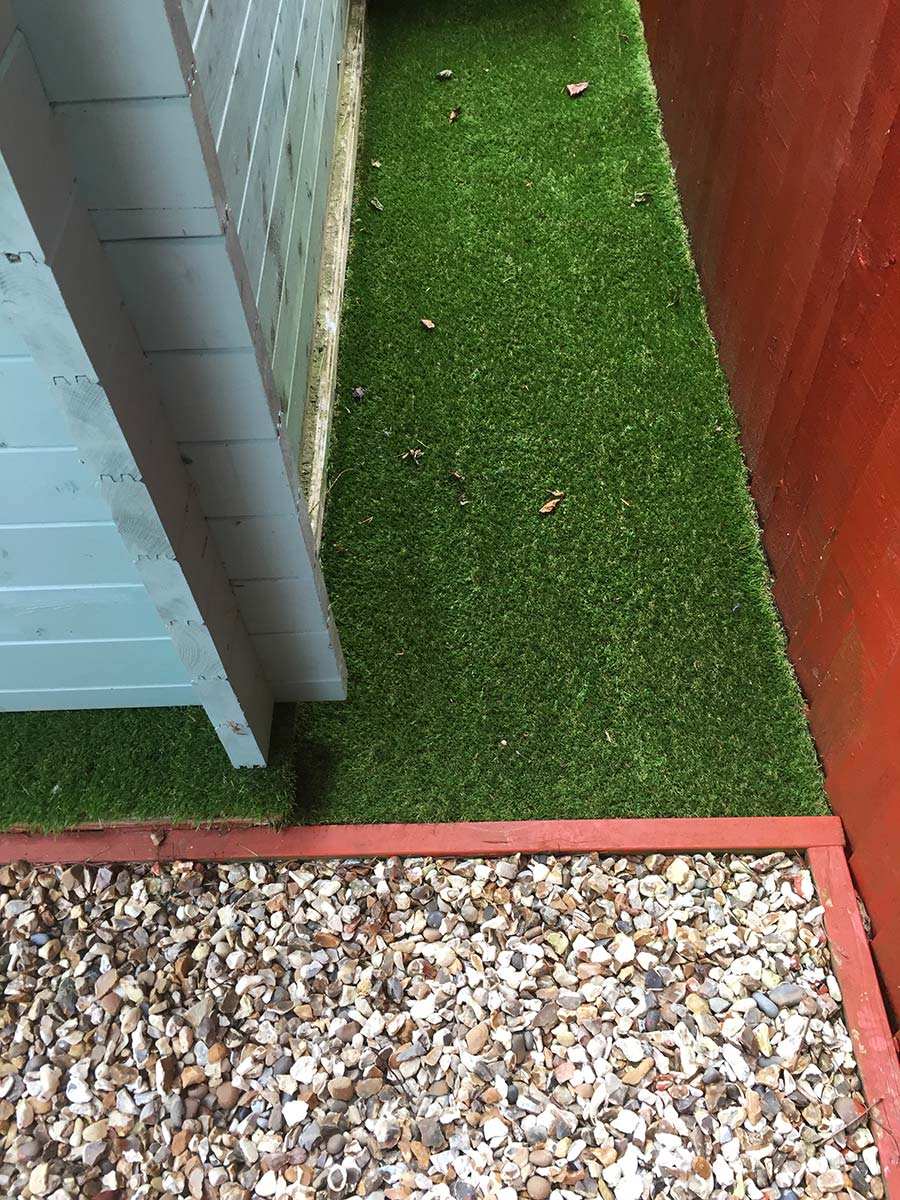 Artificial Grass for Small Awkward Areas!