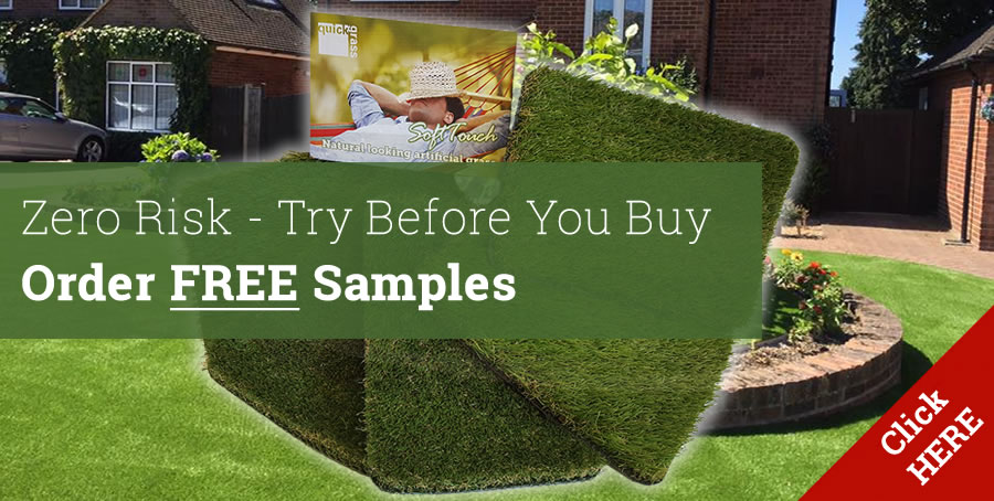 Order free artificial grass samples