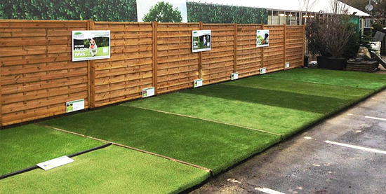 artificial grass for garden centres