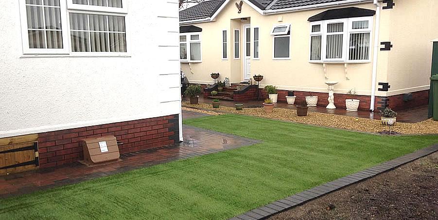 Artificial Grass for Caravan Park - Kidderminster