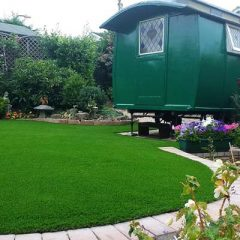 Droitwich artificial grass installation