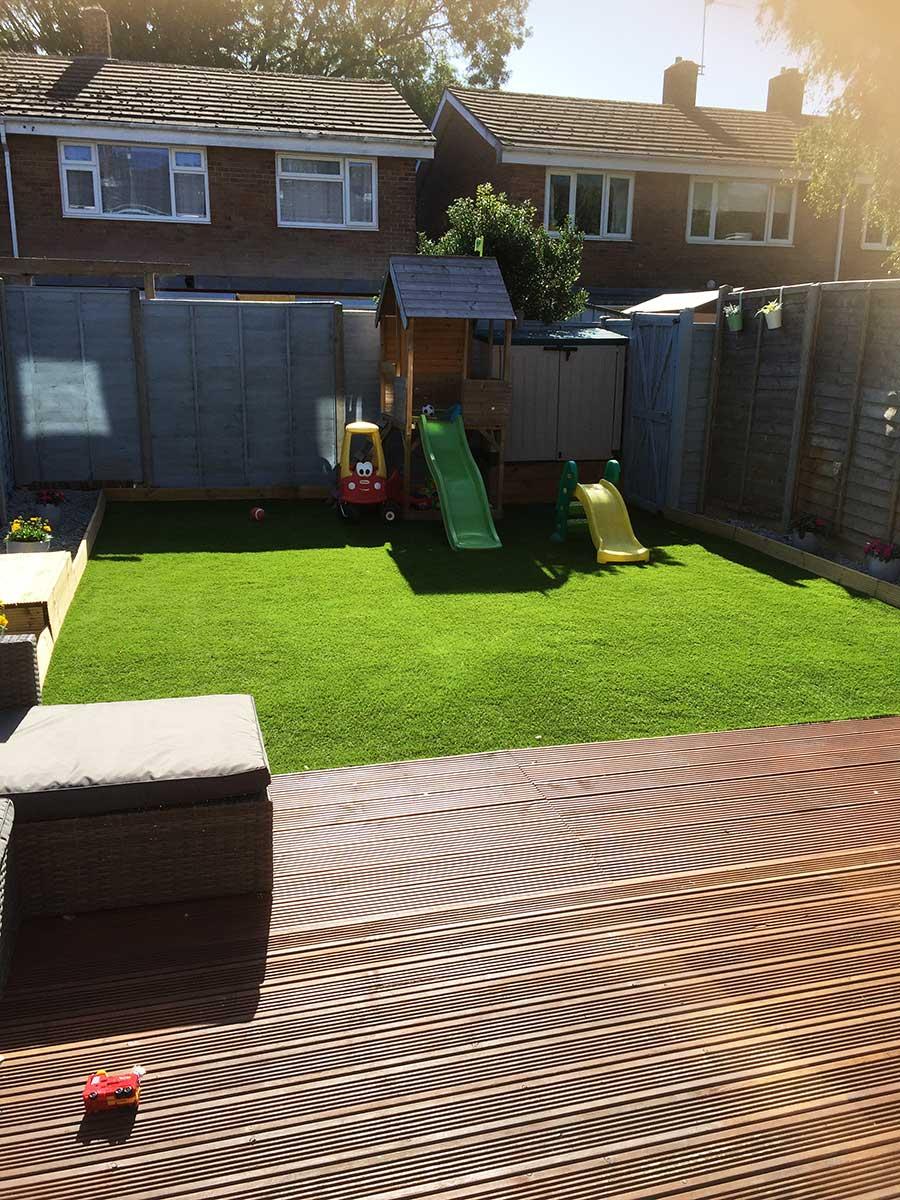 Ludlow Artificial Grass Family Garden