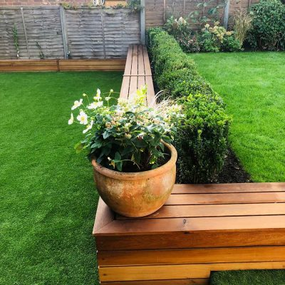 Cambridge Artificial Grass& raised beds