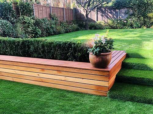 Artificial Grass Patio and Steps