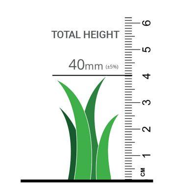 Luxury PU 40 Artificial Grass